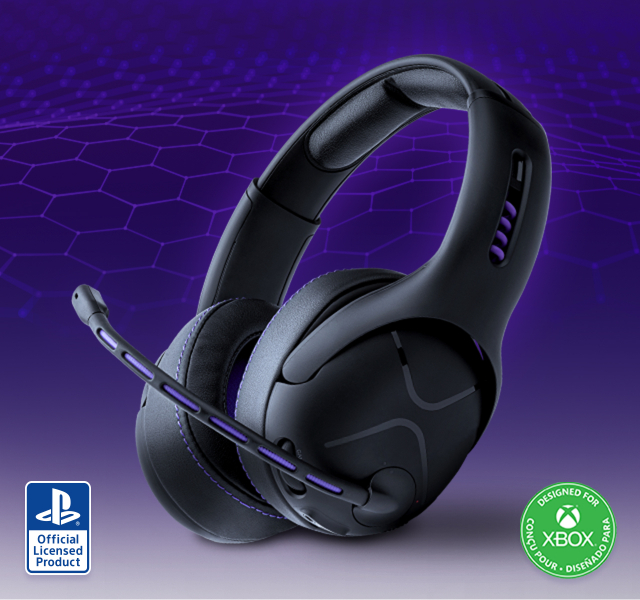 Image of the Victrix Gambit Headset with Playstation and xbox Logo